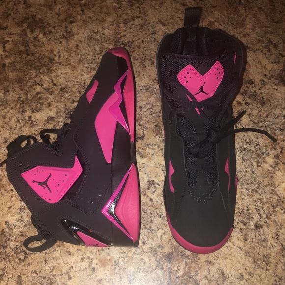 promo code 56ff7 f5134 Air Jordan True Flight Pink Black Women s 10 New